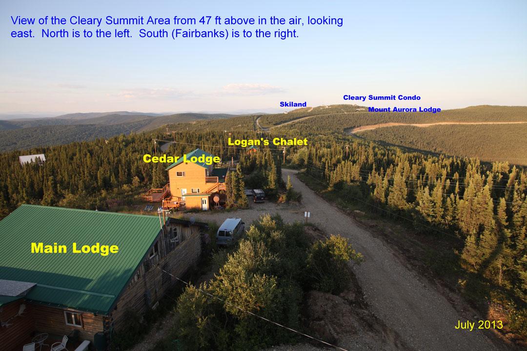 Aurora Borealis Lodge and Cleary Summit Alaska